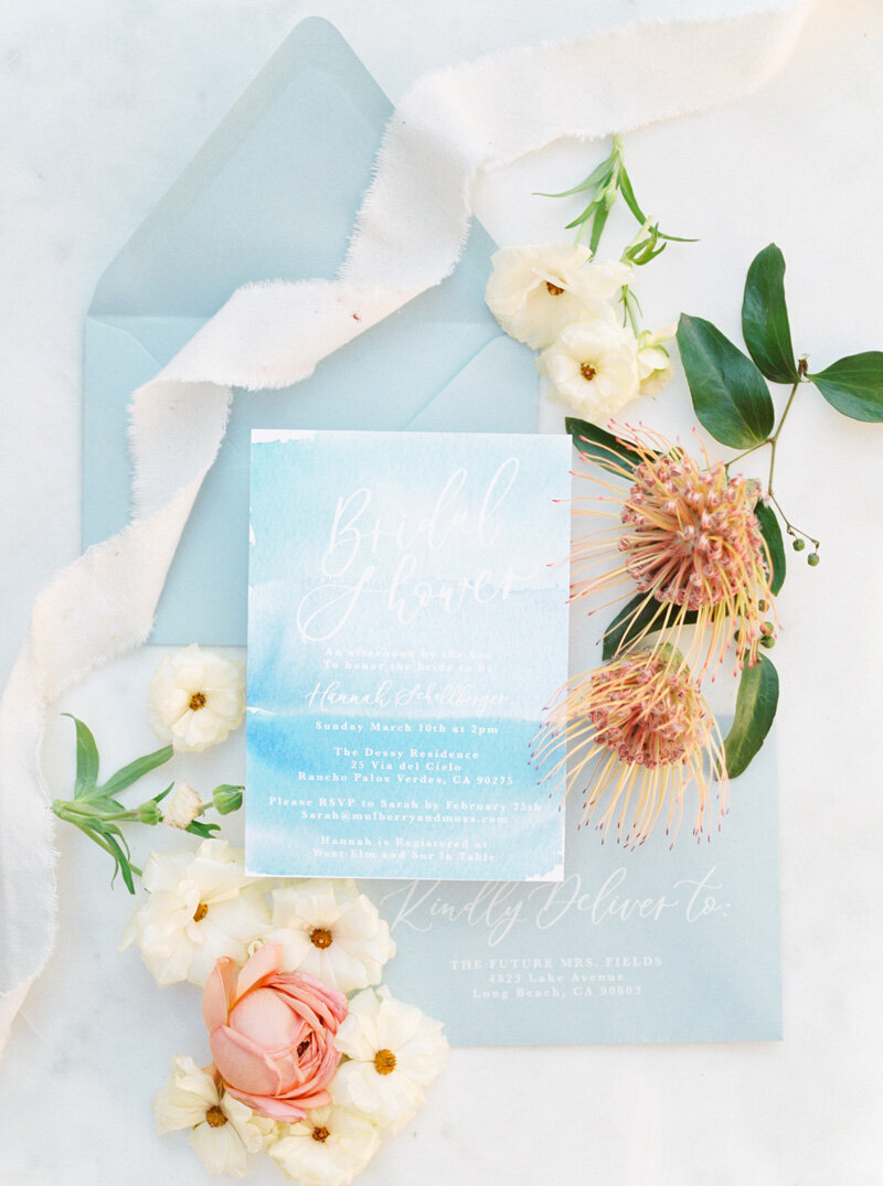 pirouettepaper.com | Wedding Stationery, Signage and Invitations | Pirouette Paper Company | Seaside Bridal Shower |  Christine Skari Photography_ (17)