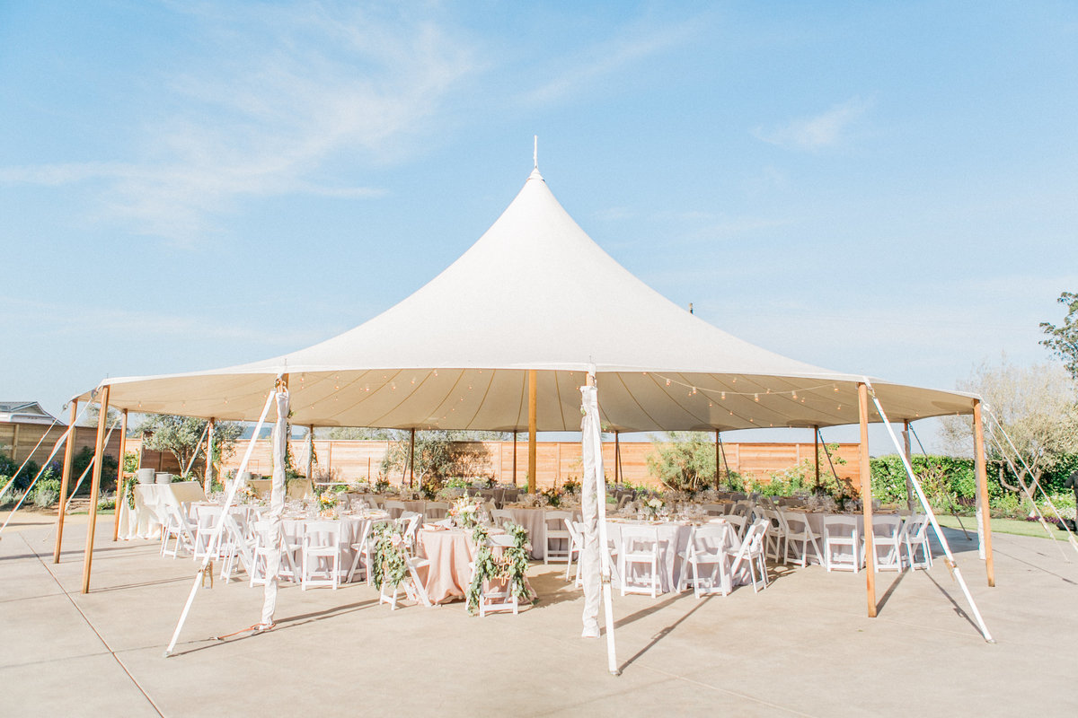 Reception Tent at Cornerstone Wedding Garden