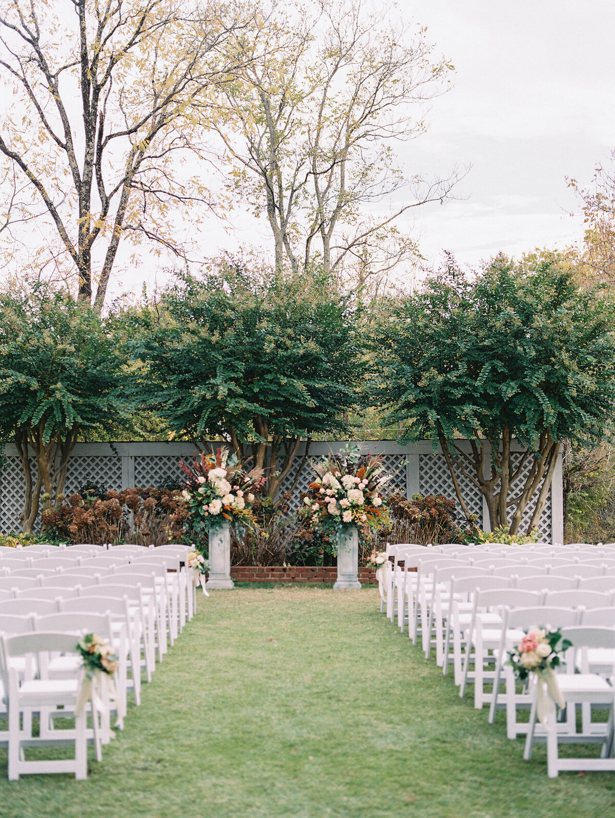 Outdoor Wedding Ceremony Washington DC Wedding Photographer Robert Aveau for © Bonnie Sen Photography