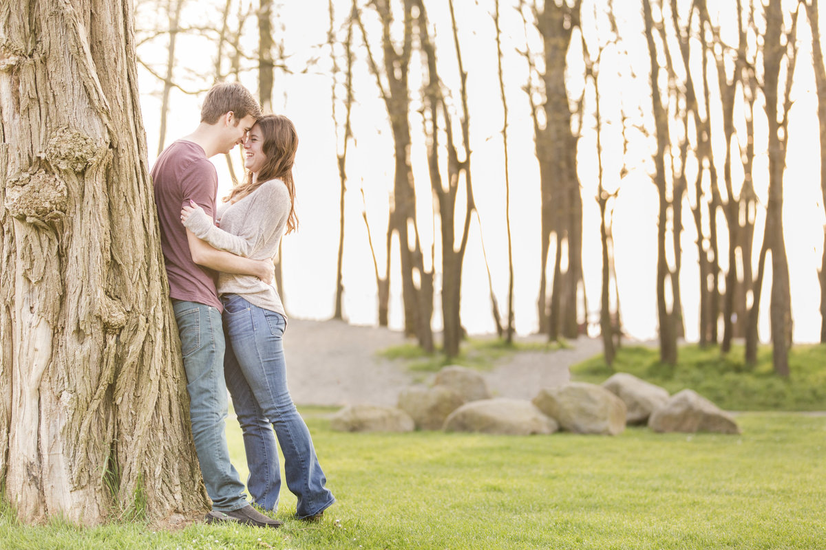 seattle wedding photographer golden gardens engagement photo