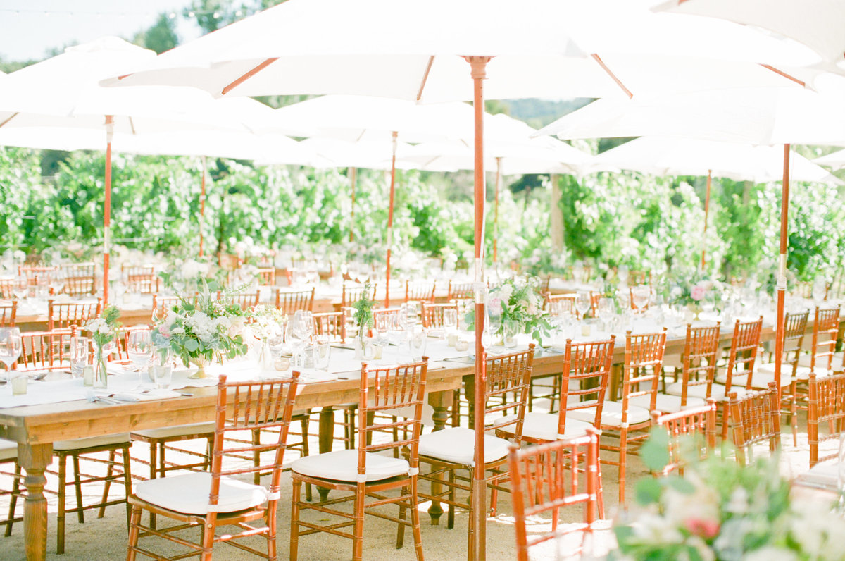 California Garden Wedding Reception