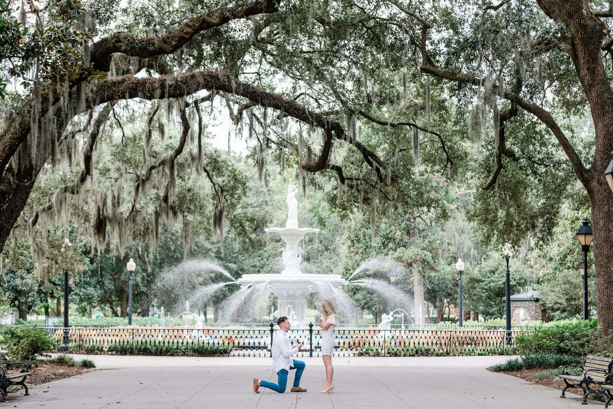 Forsyth Park Proposal by Apt. B Photography