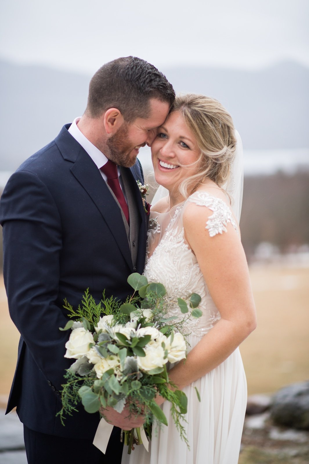 Mountain Top Inn Resort wedding in the winter
