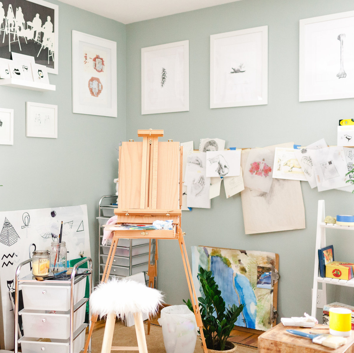 view of an artists studio