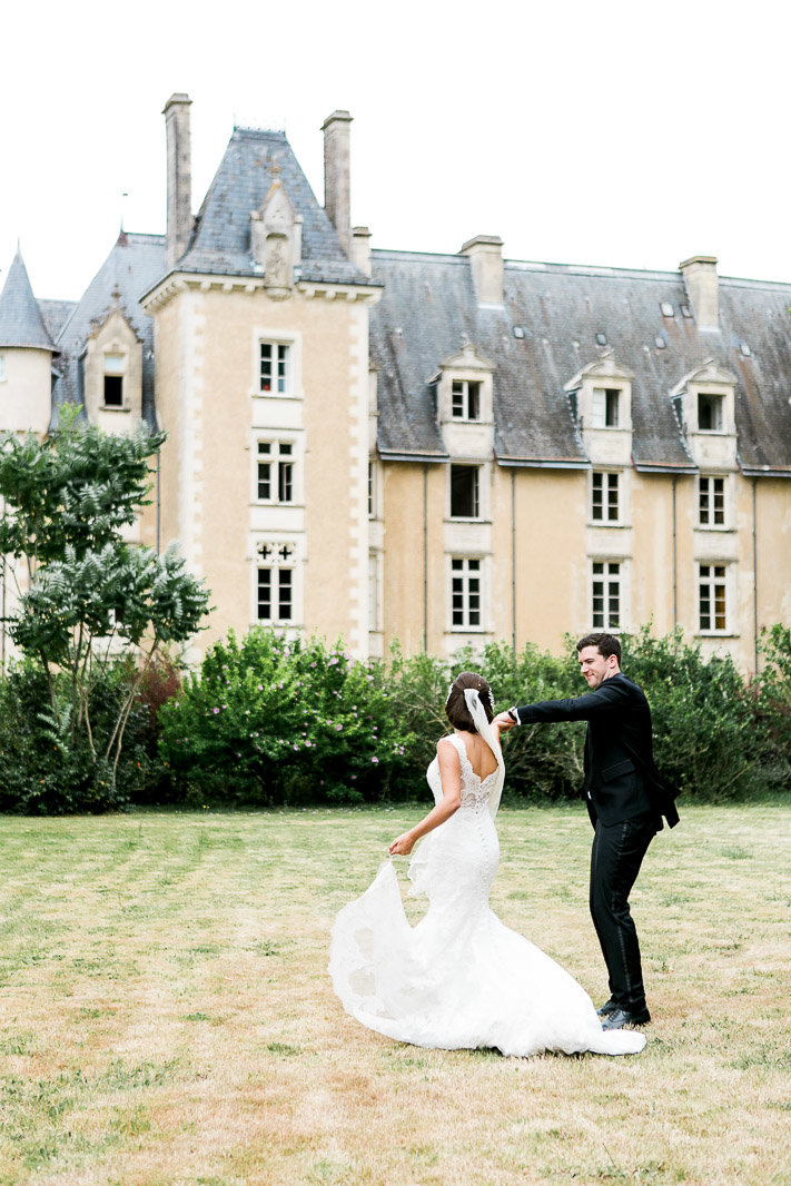 Wedding small chateau wedding france st julien