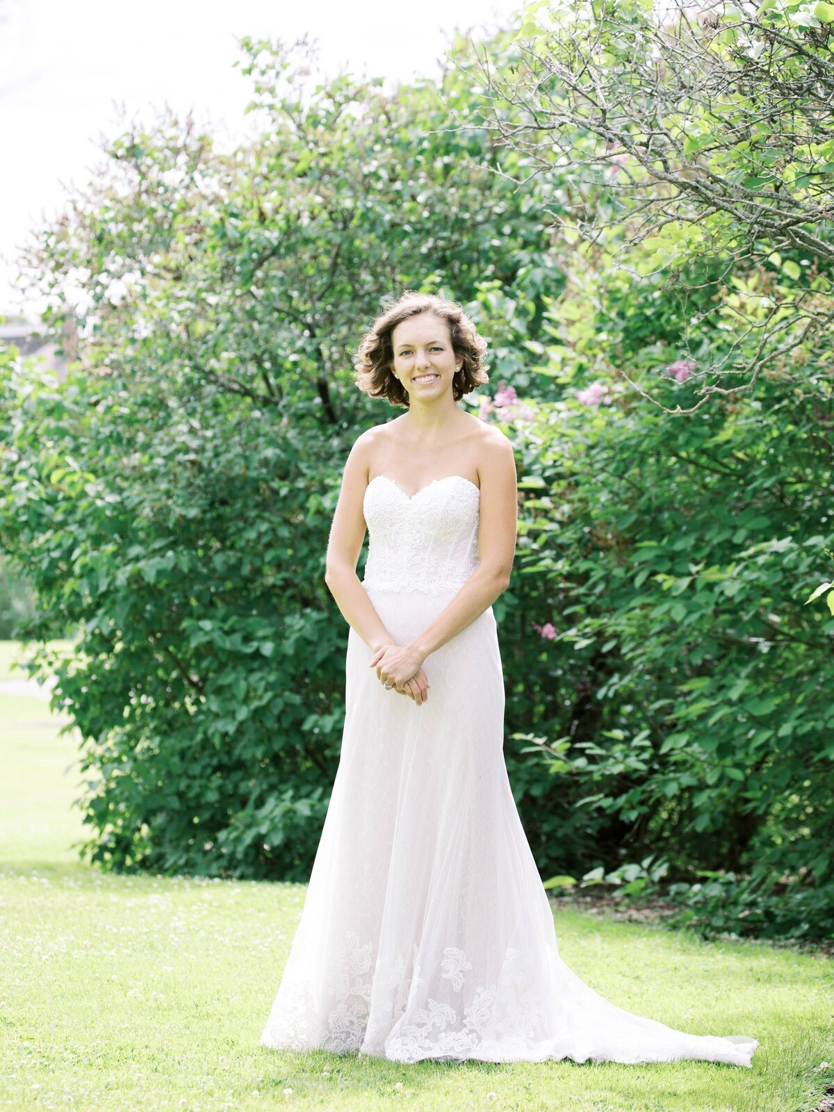 Bridal Portrait on Mackinac Island