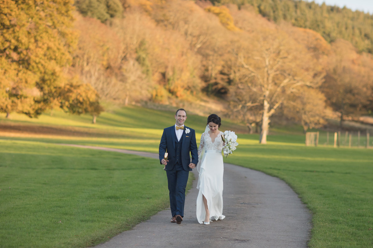 wedding in november at st audries park somerset