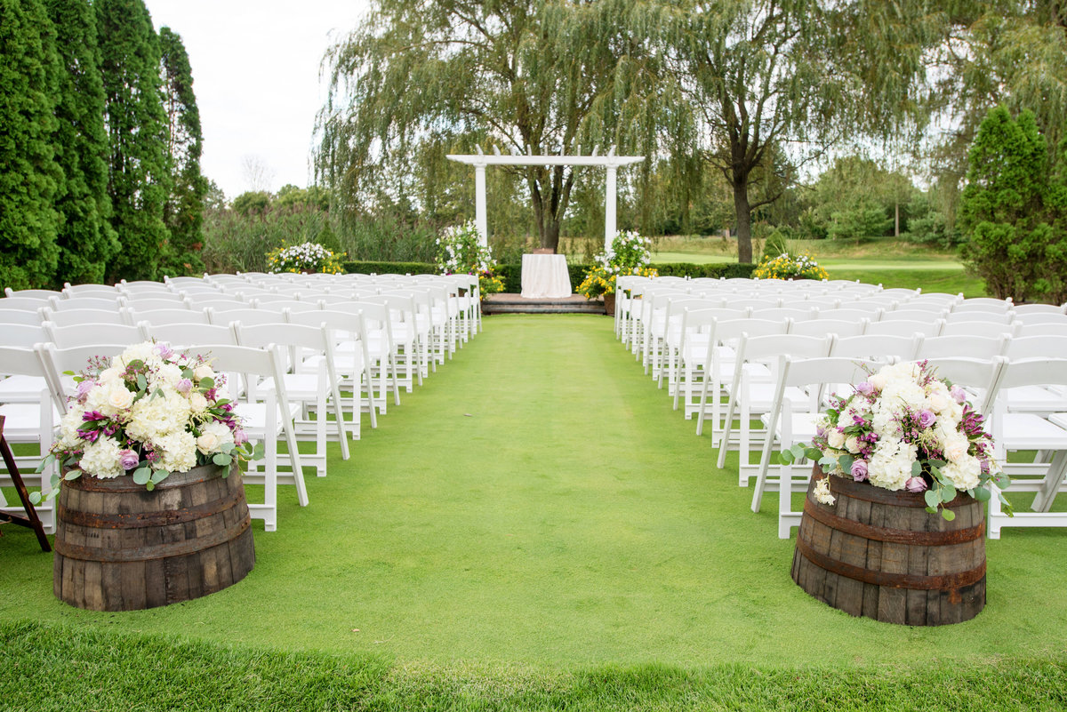 photo of ceremony on the golf course at Willow Creek Golf and Country Club