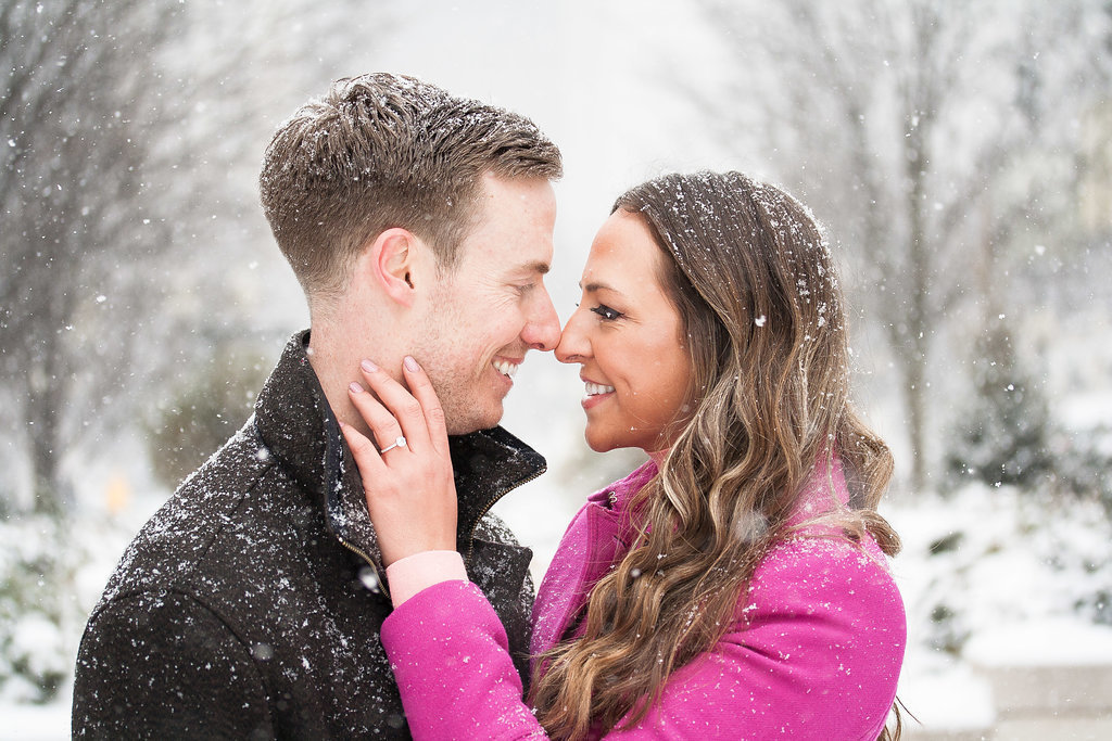 Millennium Park Chicago Illinois Winter Engagement Photographer Taylor Ingles 24