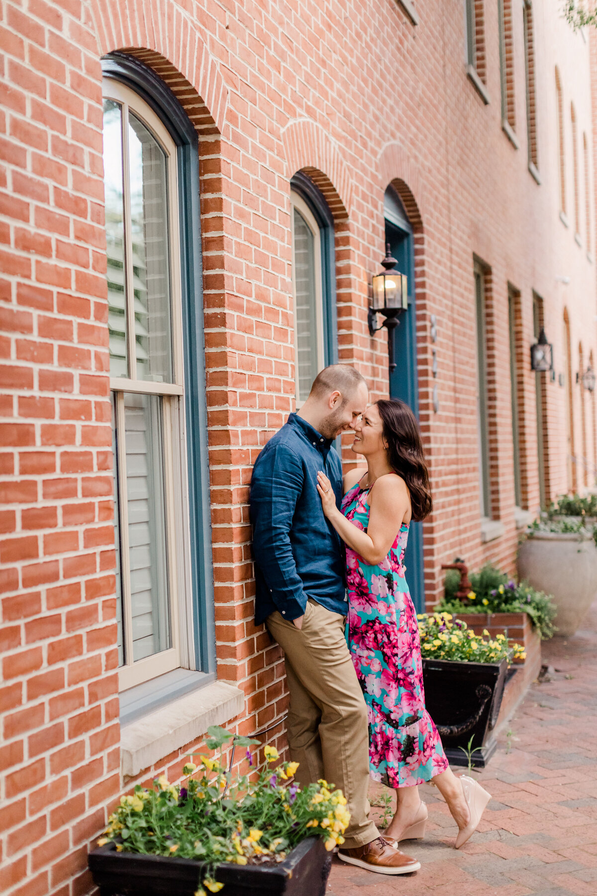Engaged couple in baltimore