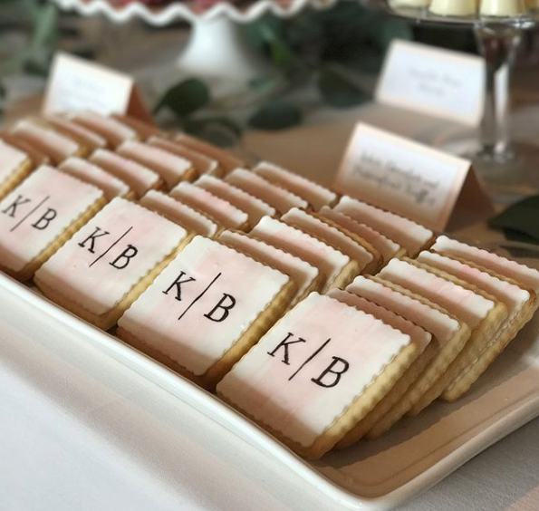 Whippt Desserts - sugar cookie monogram