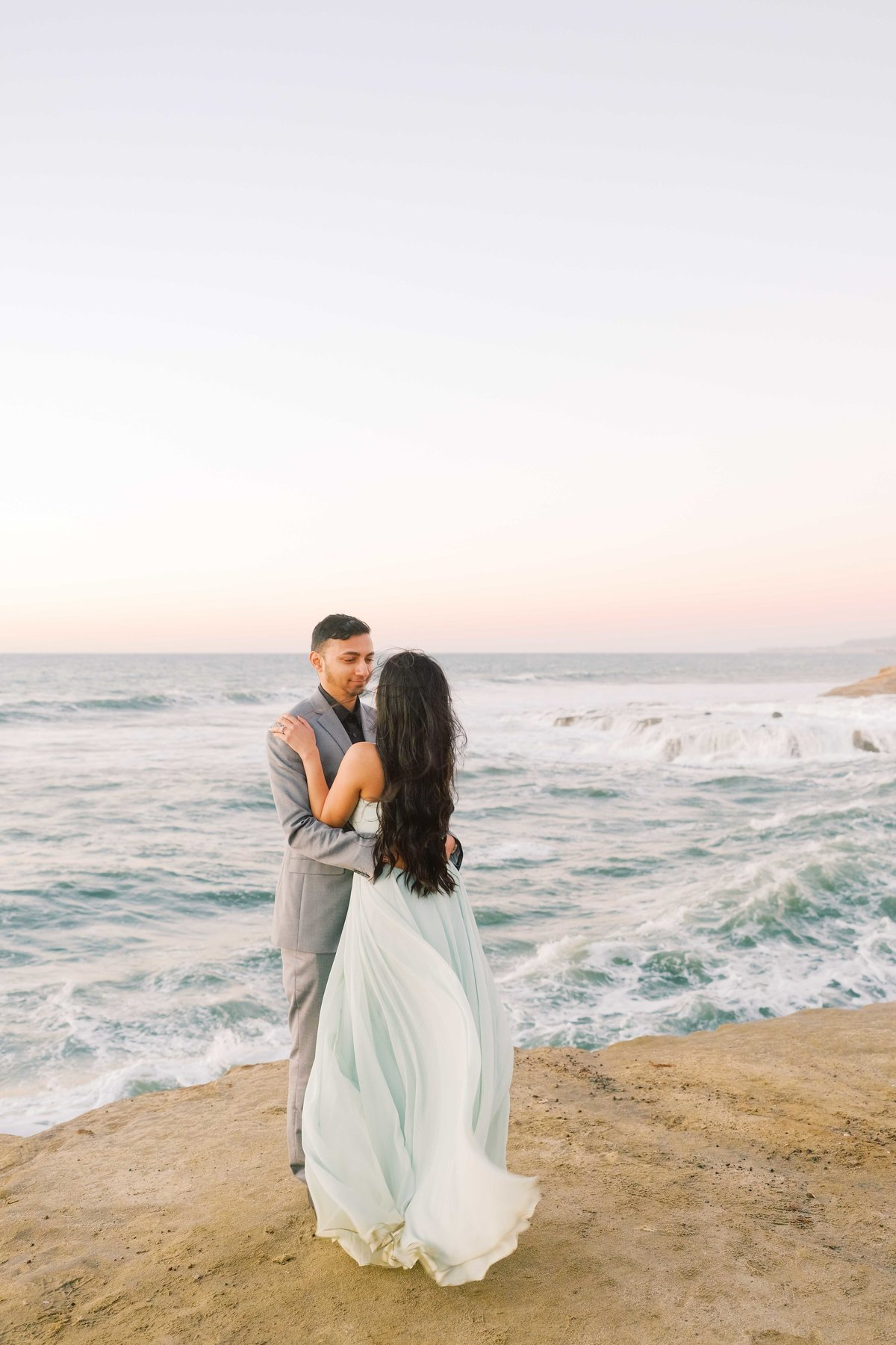 Babsie-Ly-Photography-San-Diego-Proposal-Engagement-Sunset-Cliffs-Indian-Couple-Dog-Surprise-006