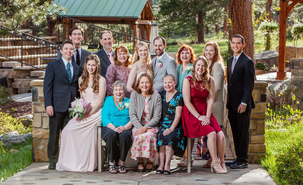 Formal Family Photography at Della Terra Chateaux in Estes Park Colorado