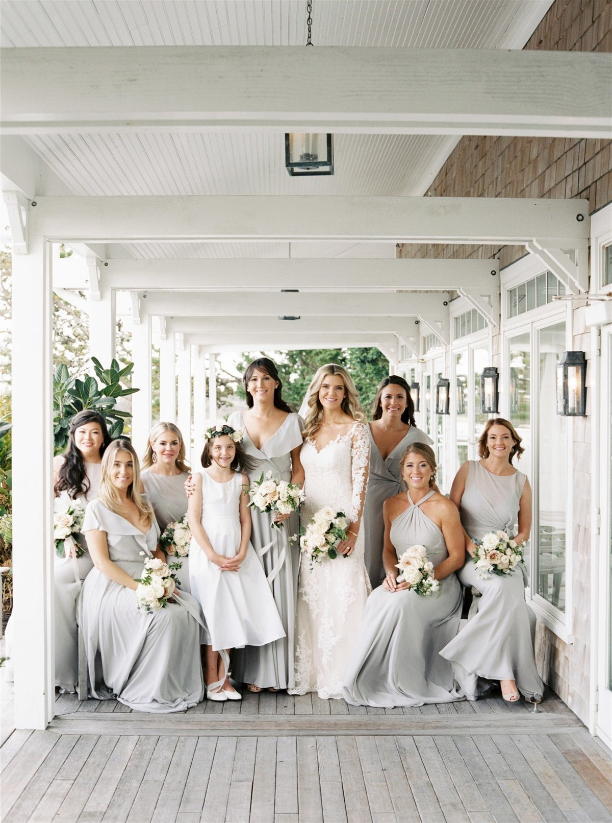 Earl Gray Jenny Yoo bridesmaids dresses for a Cape Cod Wedding by luxury Cape Cod wedding planner and designer Always Yours Events