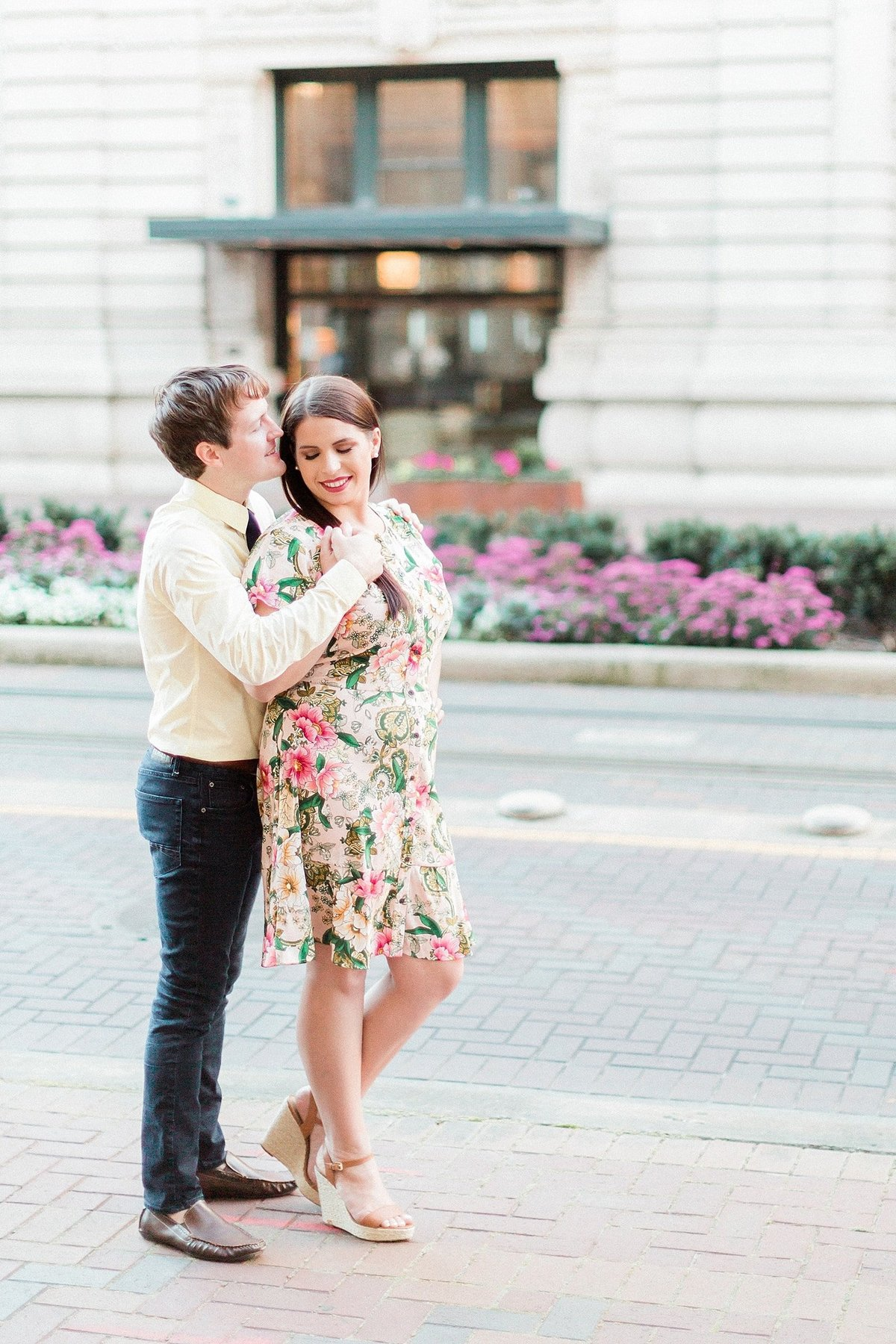 Downtown Houston Engagement Session photographed by Houston Wedding Photographer, Alicia Yarrish of Alicia Yarrish Photography