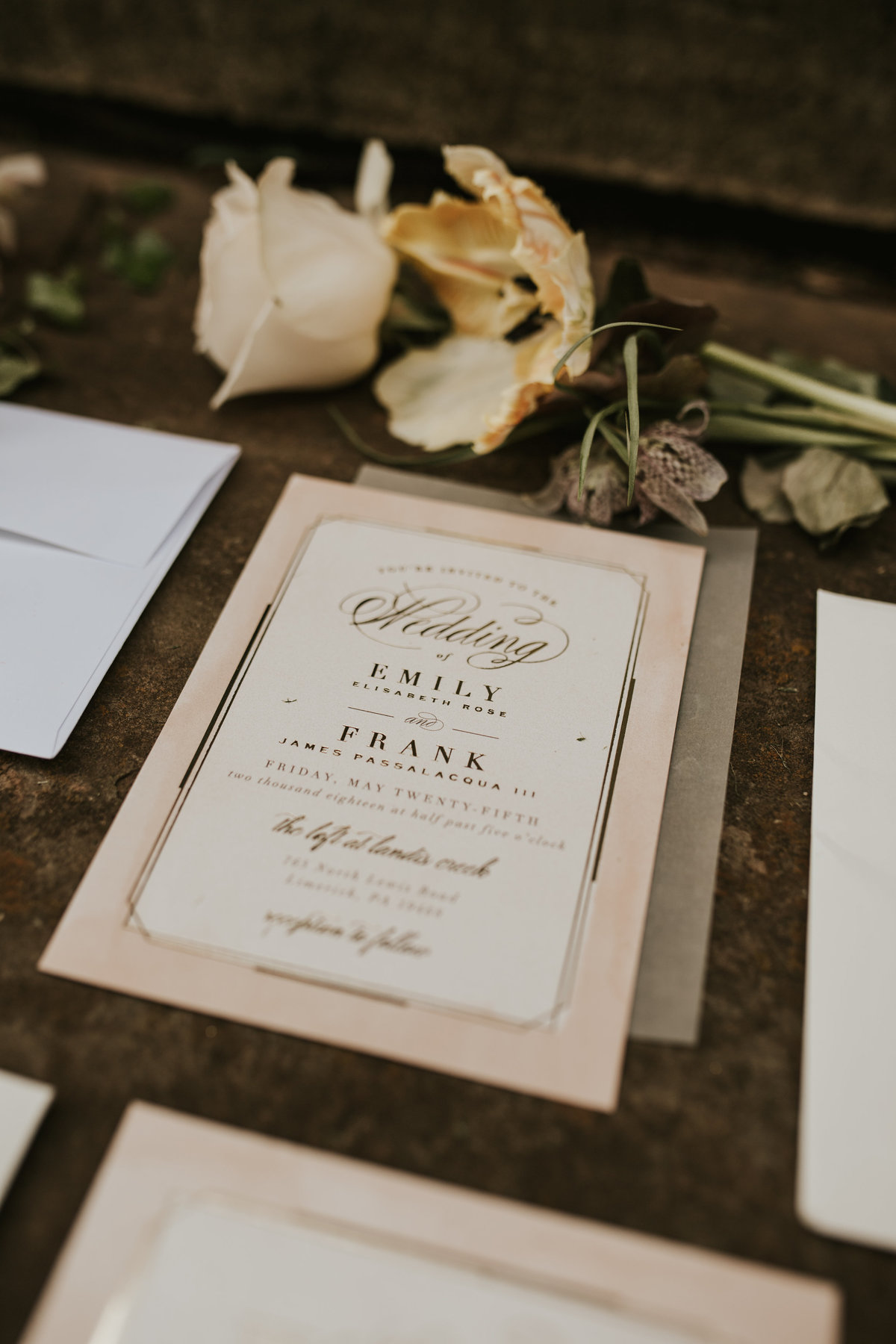 mainline wedding invitation