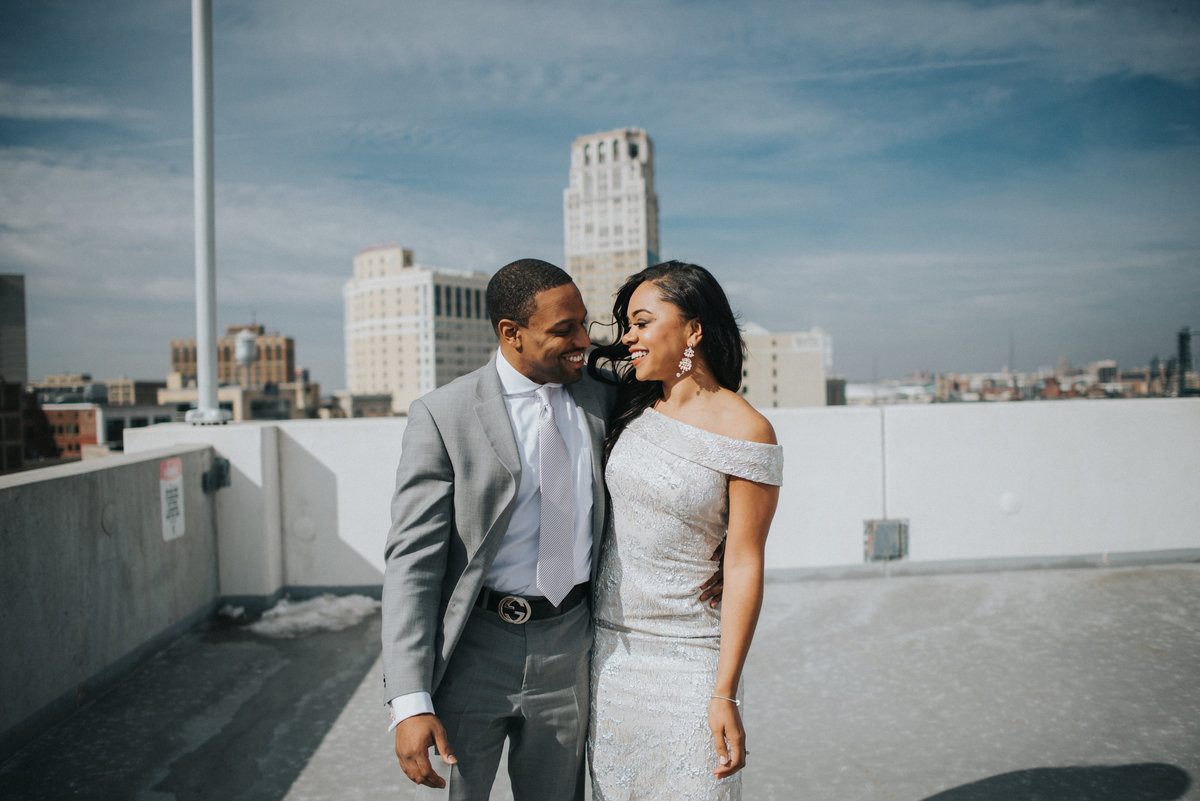 z-lot-parking-garage-wedding-pictures-detroit-wedding-photographer-girl-with-the-tattoos-michigan-wedding-photographer-detroit-elopement-coleman-a-young-wedding