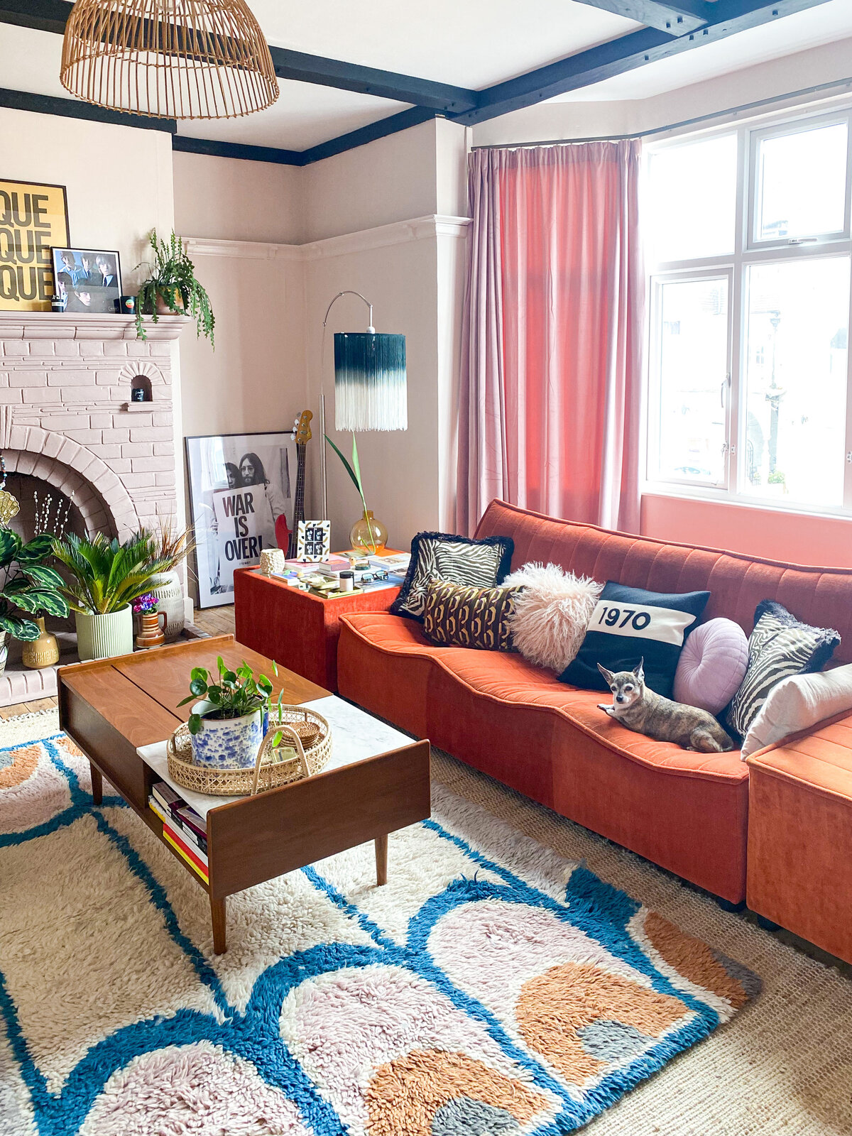 EJP-Abode-Living-Room-Orange-Velvet-Sofa(1)