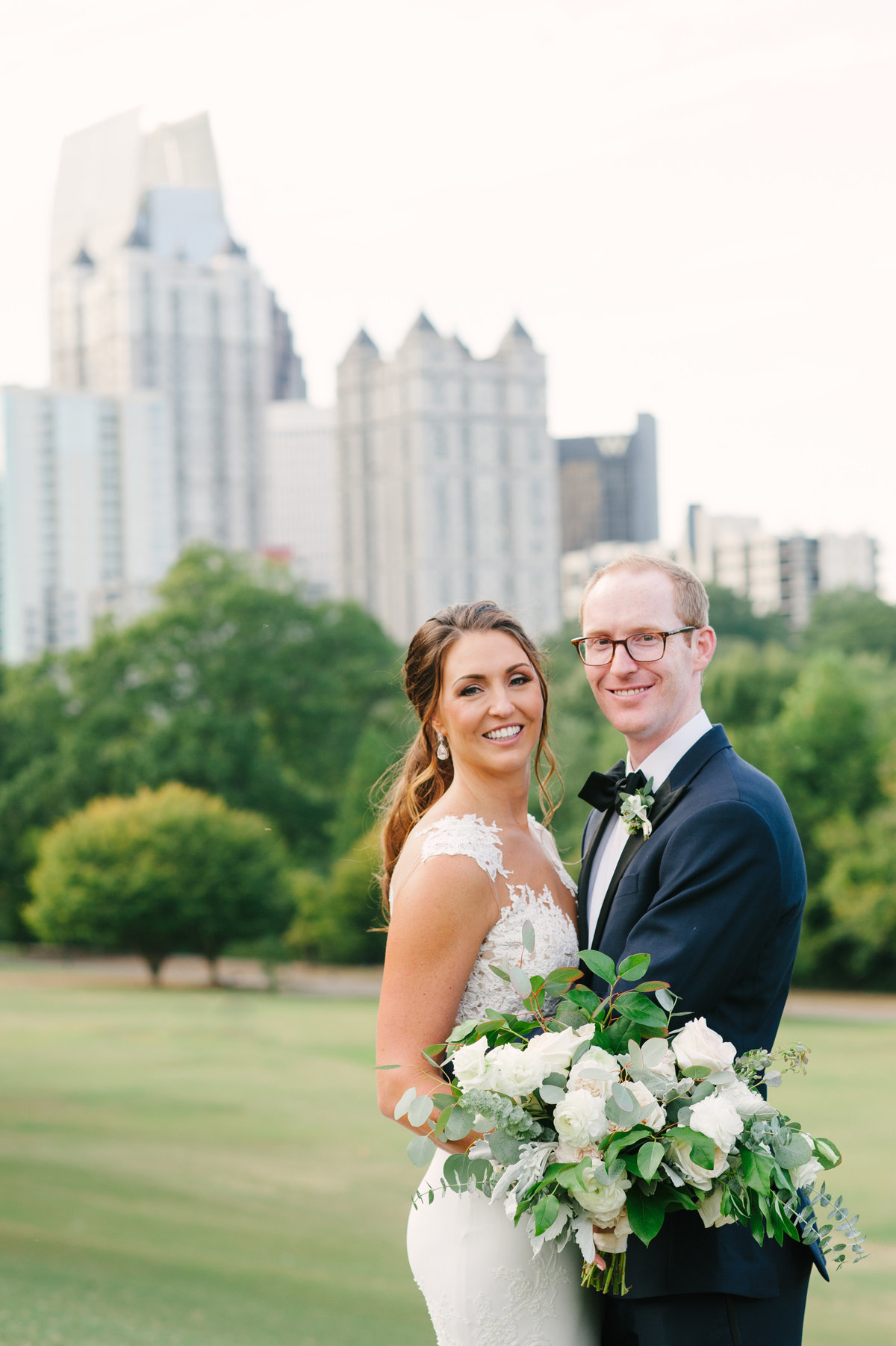 Wedding Couple at Piedmont Park