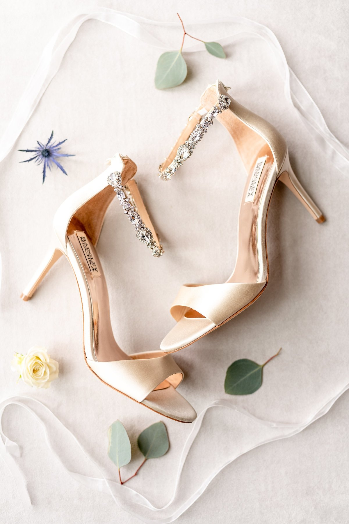Brides Wedding Shoes | Badgley Mischka | Orlando Wedding Photographer