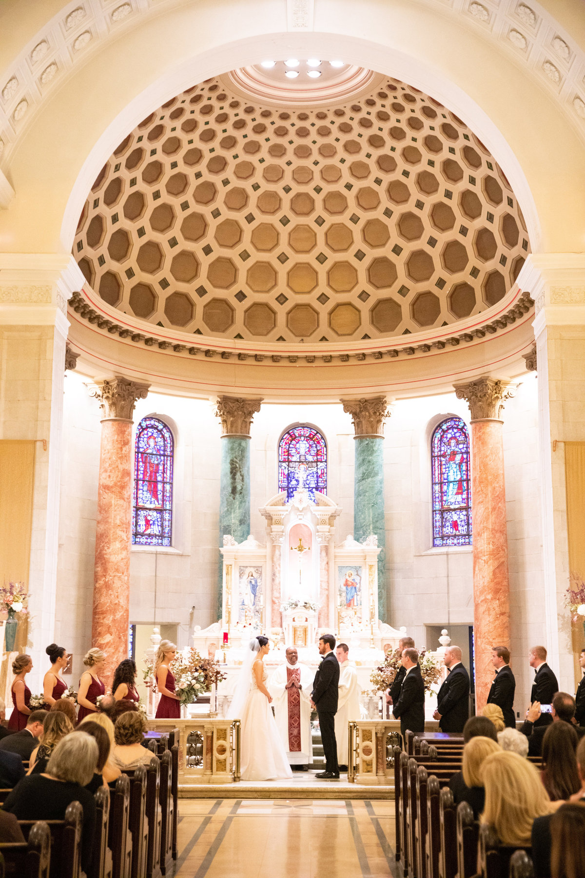 Wilmington Delaware wedding St. Elizabeth church