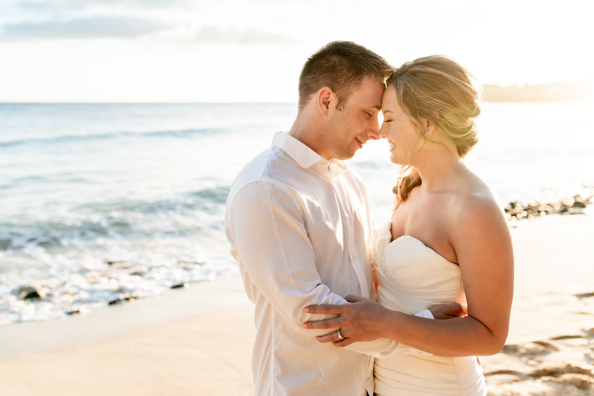 Romantic kauai wedding photography