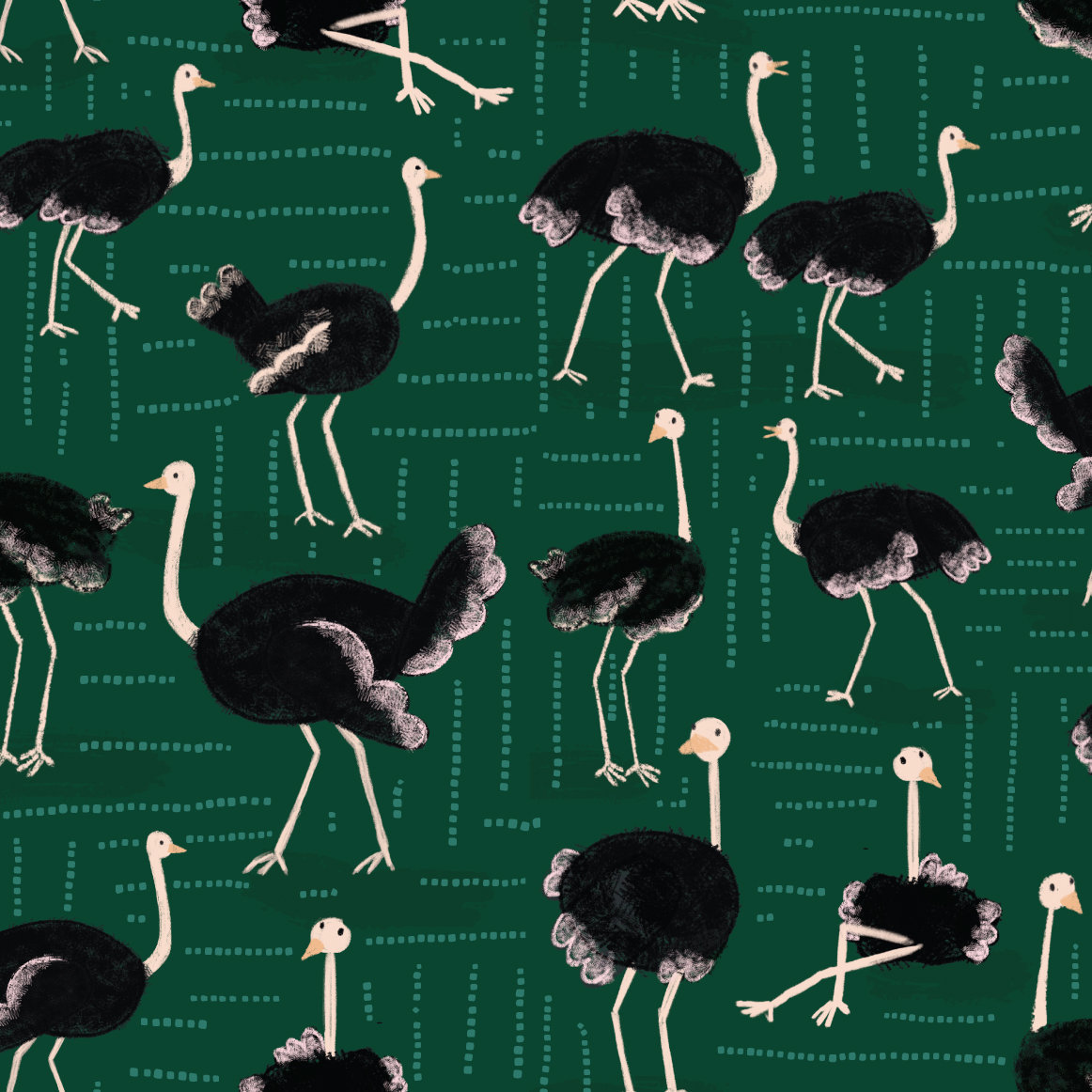 ostrich-party---green