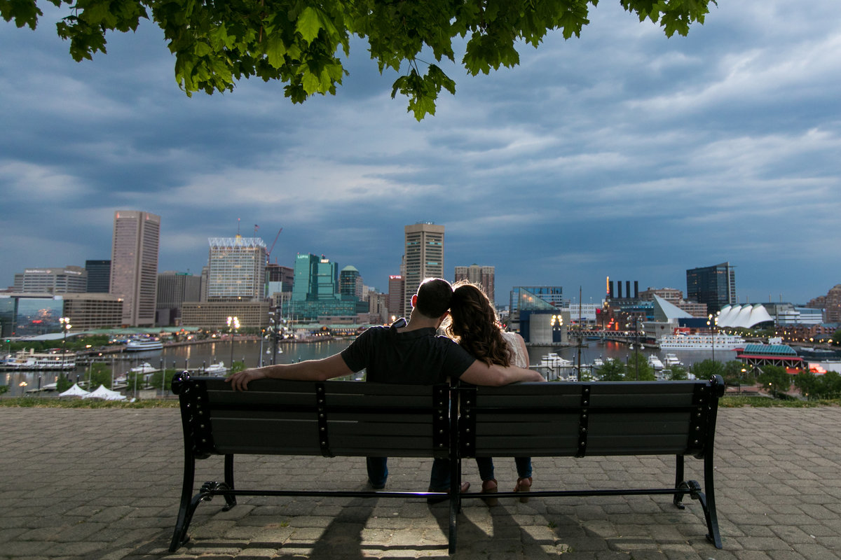 Federal Hill Park at Night, Engagement Photos