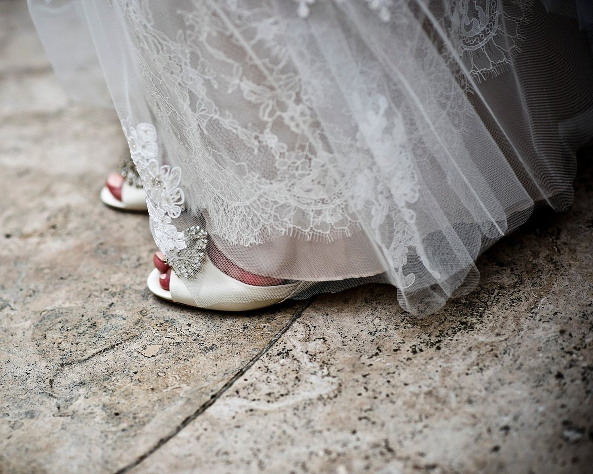 Bridal Shoes at Restaurant 2941 Wedding in Falls Church