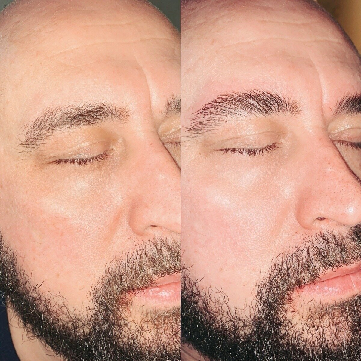 mens brow lamination