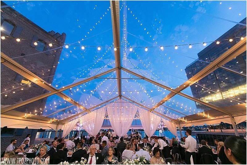 clear tent wedding at the Frederick Douglass Isaac Myers Maritime Park