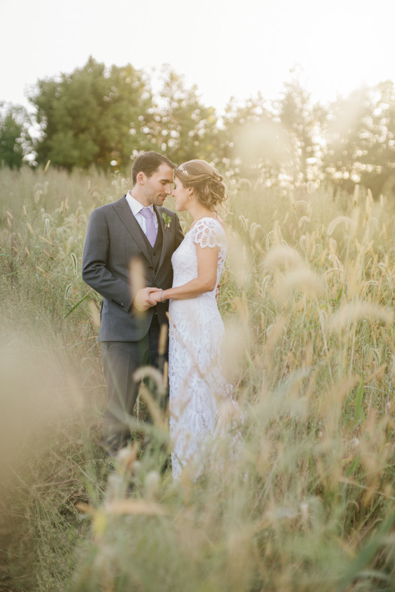 Sunset wedding photo at The Cross Keys Estate
