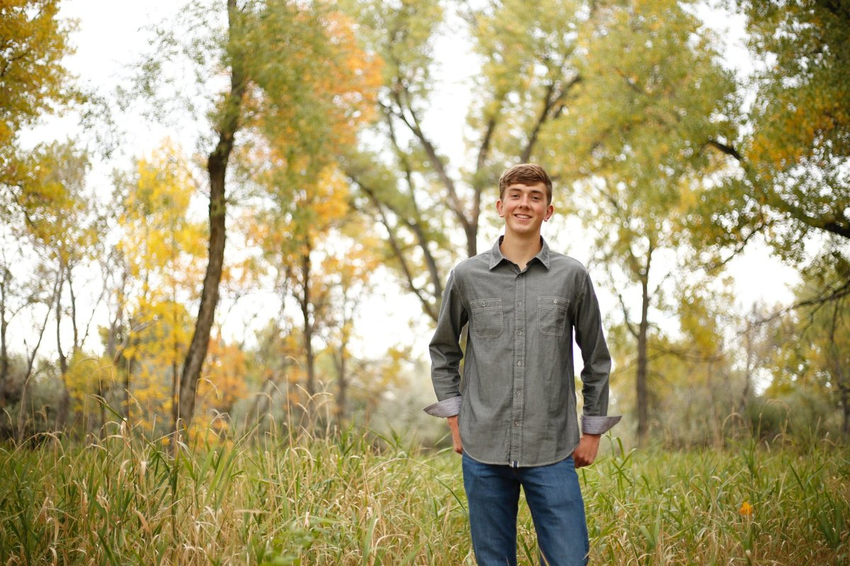 billings boy senior photo