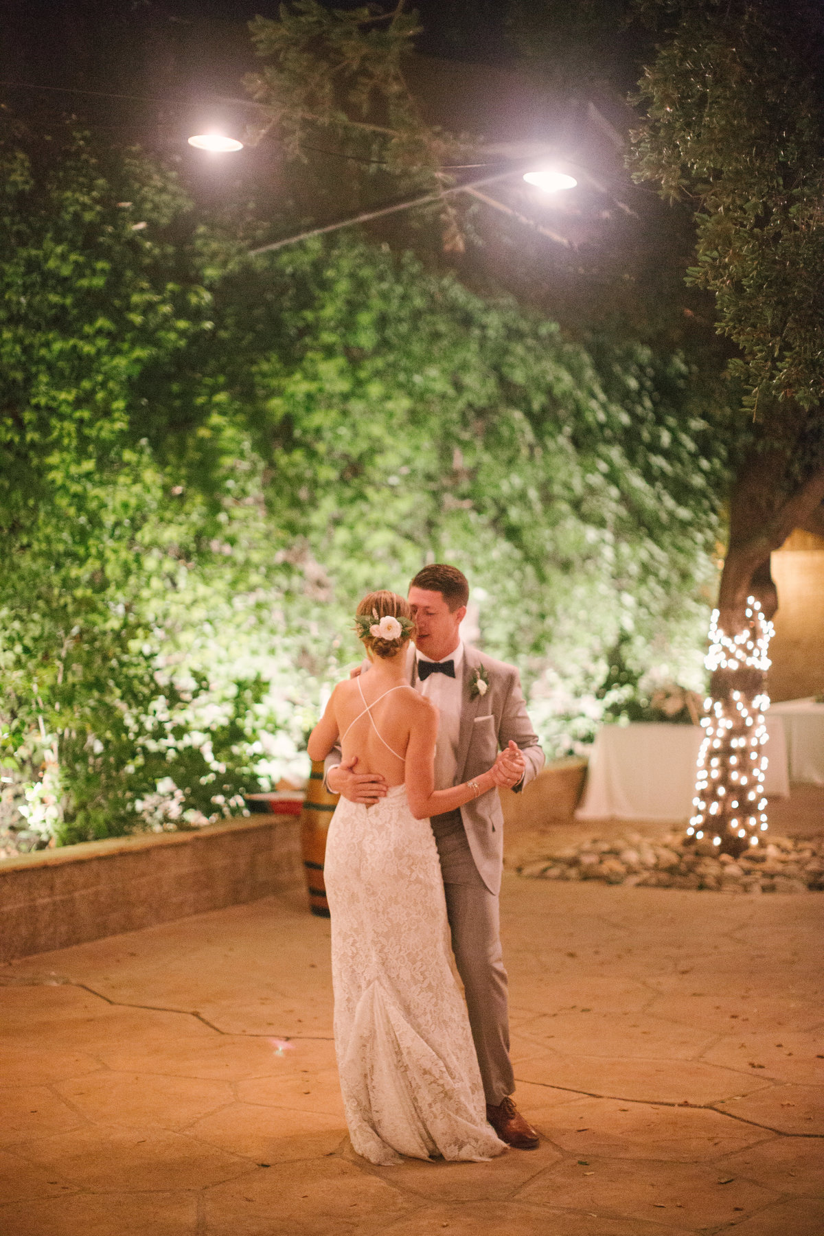 Groom dances with his bride at Firestone Vineyard Wedding