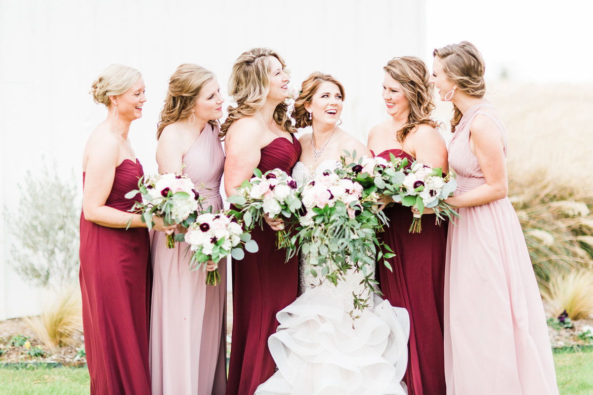 The Milestone Morgan Creek Barn Walters Estates Bridal Party