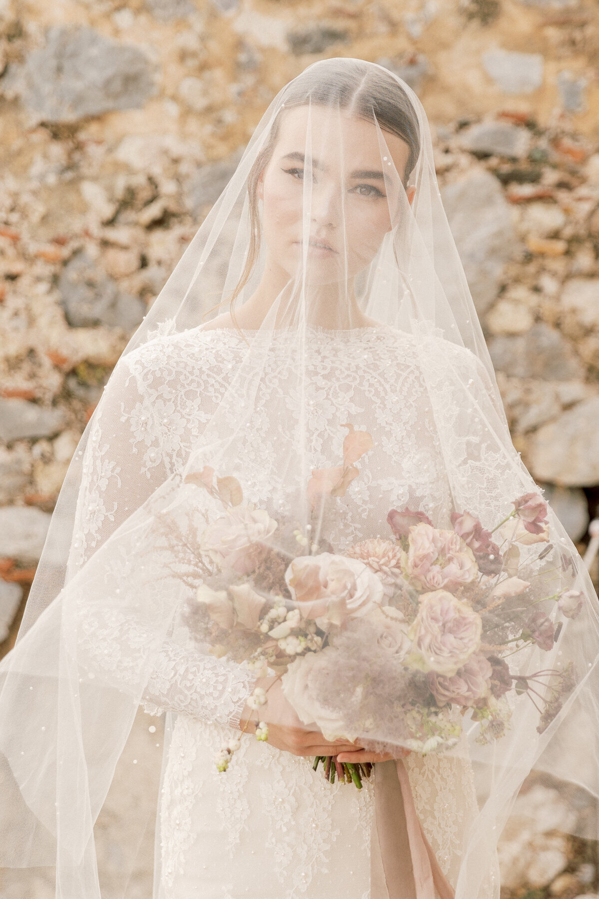 Bridal Portrait Editorial Photoshoot in Greece 10
