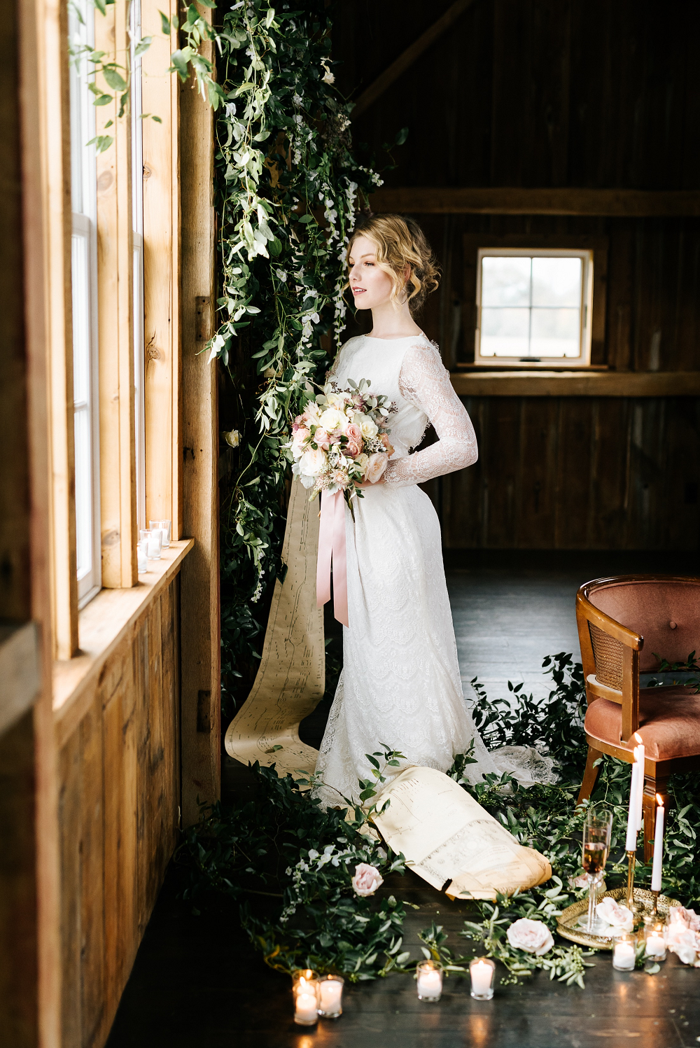 Lush Greenery Wedding Inspired Styled Shoot at Cornman Farms Bridal Details