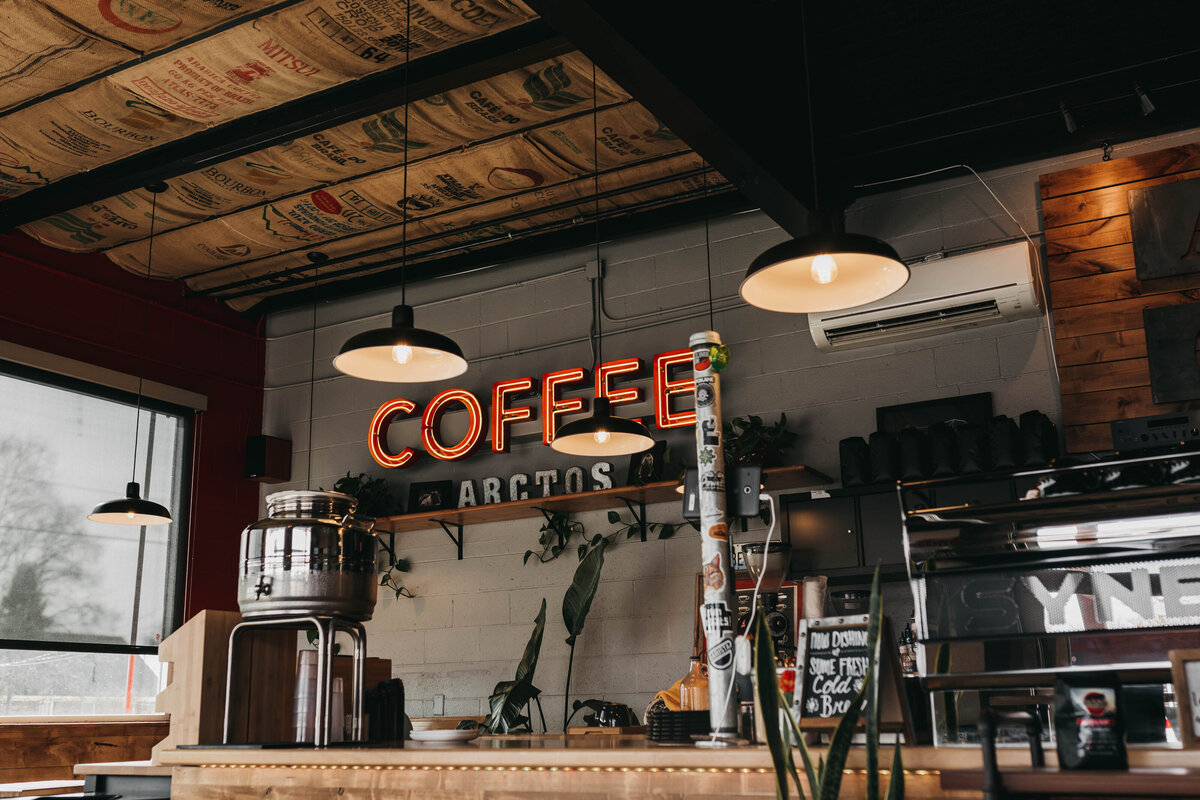 Best Coffee Shops in Spokane, Arctos Coffee - Clara Jay Photo