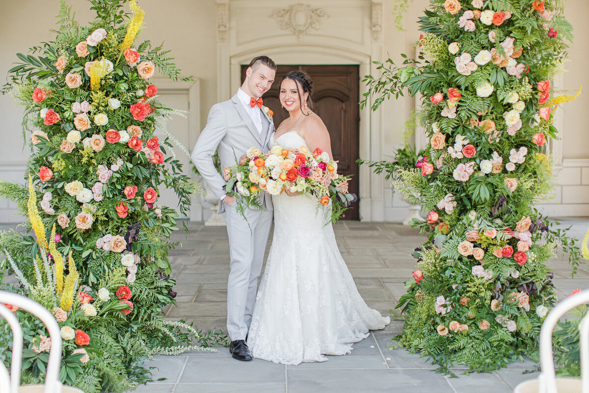 Orange_Inspired_Wedding_Palette_in_the_front_of_Park_Chateau_Estate_and_Gardens_in_East_Brunswick-6