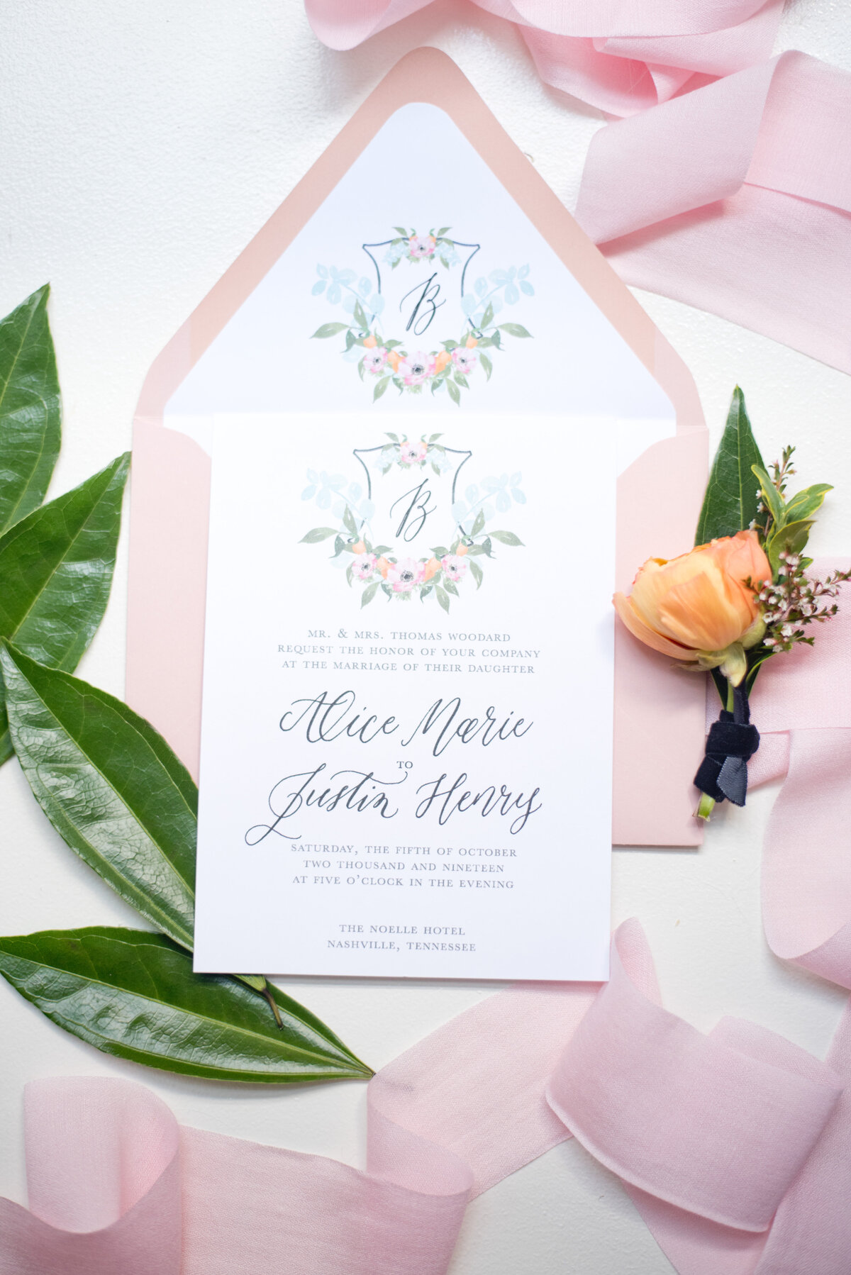 Wedding Stationery in Fort Worth Texas wedding