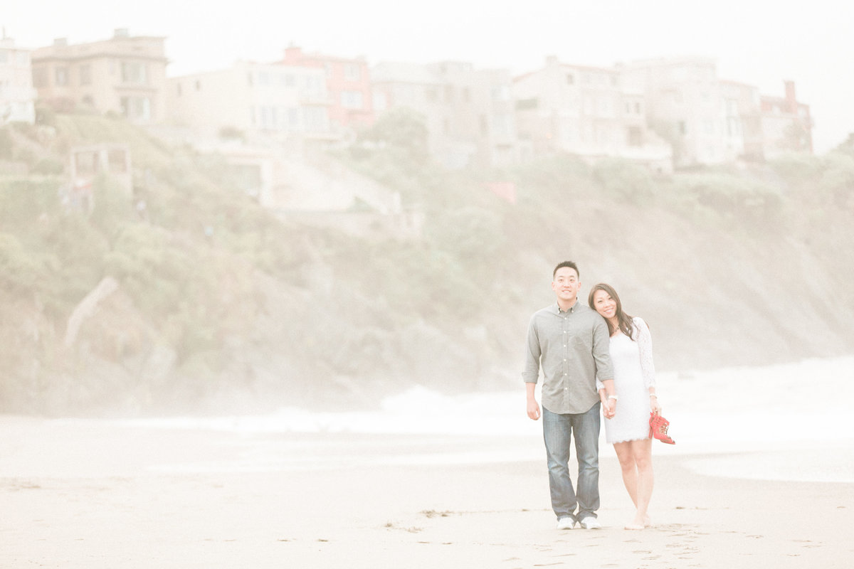 Baker Beach Cliffs Engagement Session
