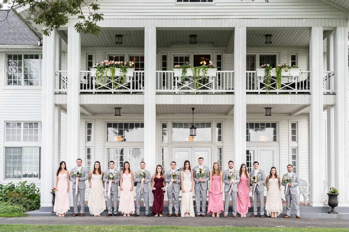 blush, gray, and cranbery romantic summer outdoor wedding at waldenwoods by kari dawson photography