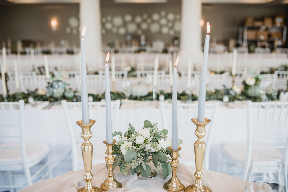 Candlesticks Lake Michigan Wedding
