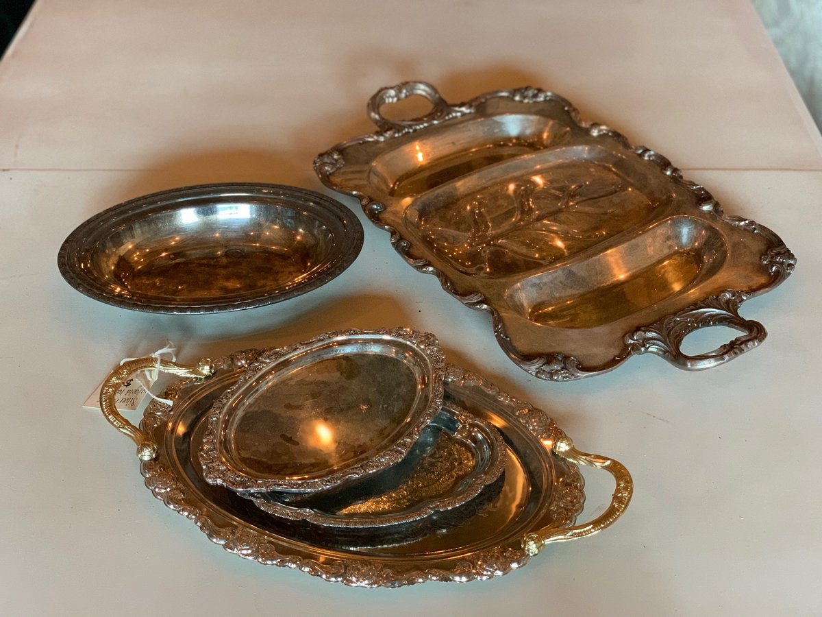 antique silver trays