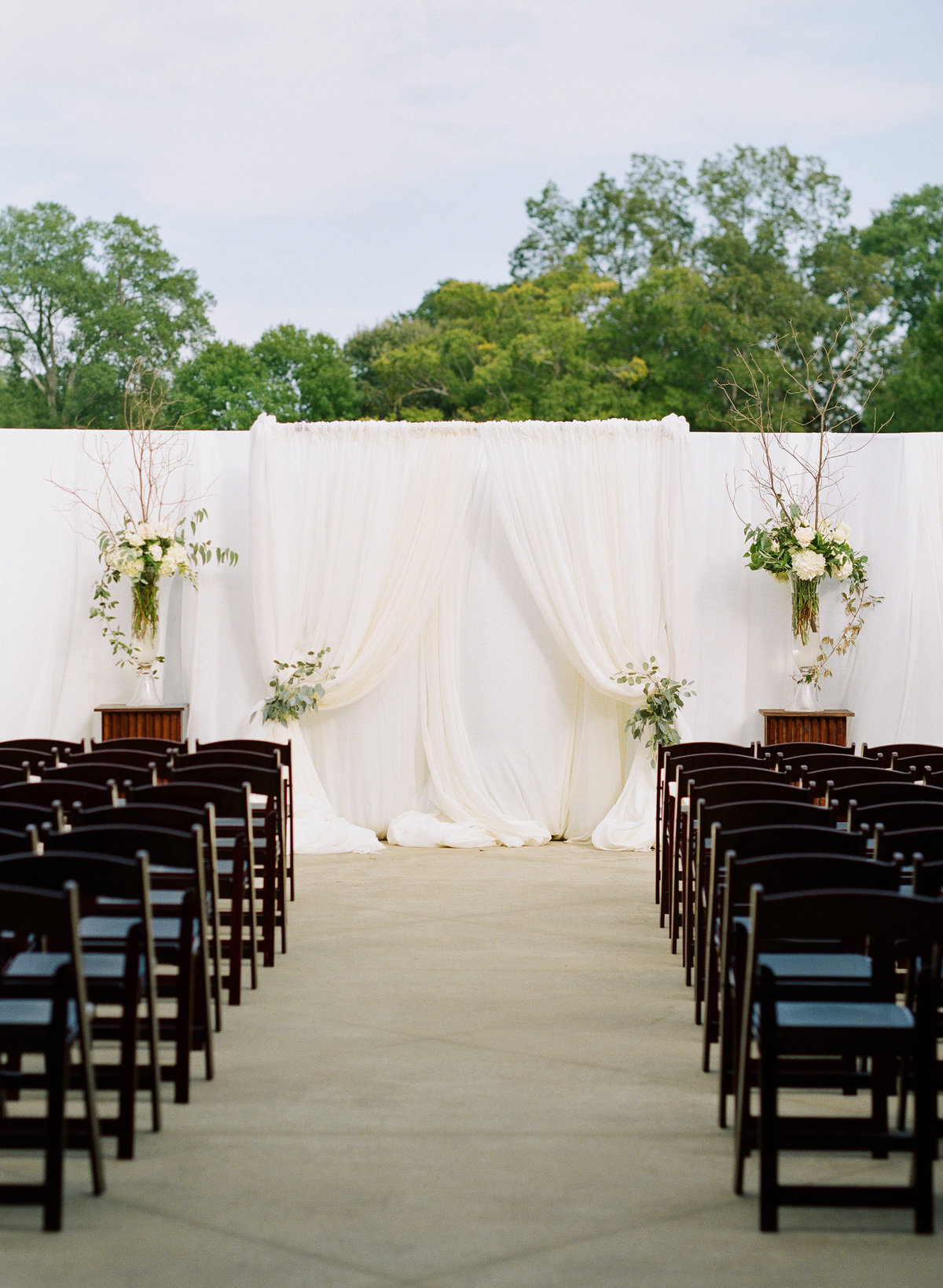 Ceremony Setup Greystone at Piedmont Park Wedding