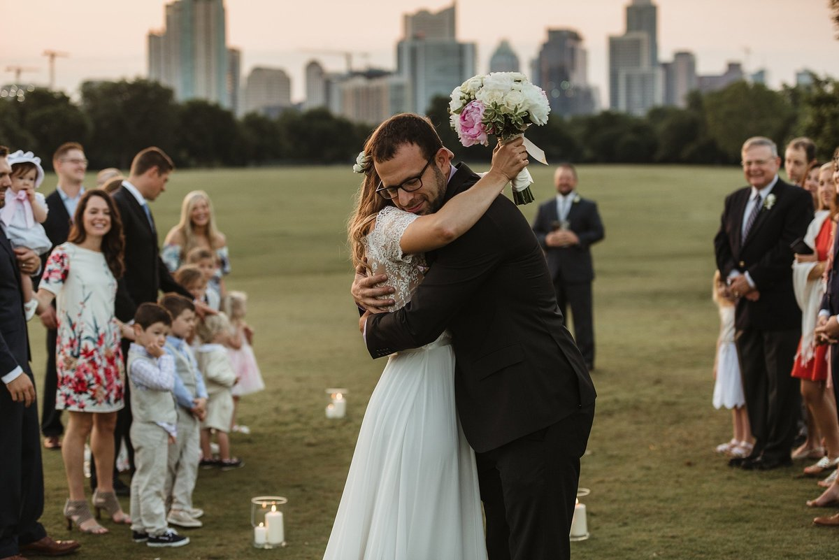 Sunrise elopement in Zilker Park, Austin