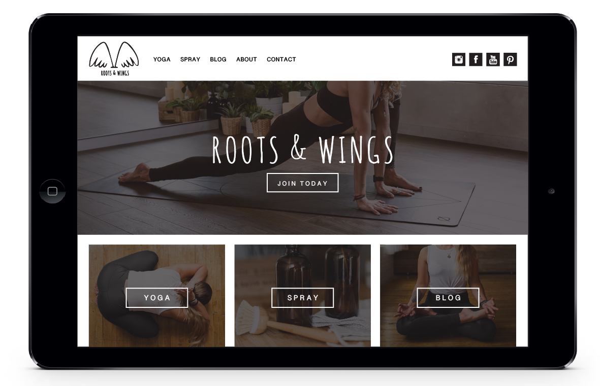 Roots & Wings Landing Page design by isArt Design Studio