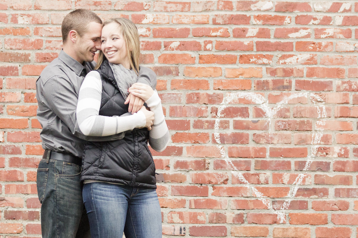 bellingham photographers downtown fairhaven engagement
