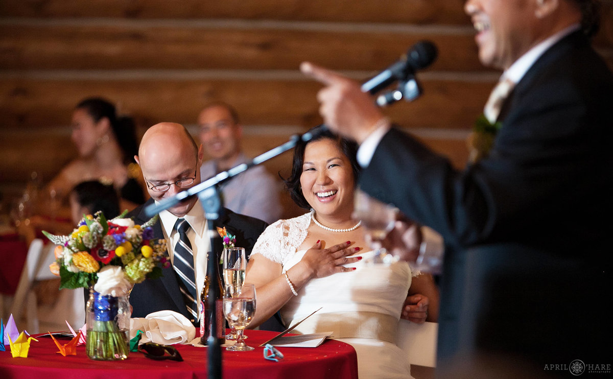 Evergreen lake House Wedding Reception Photography
