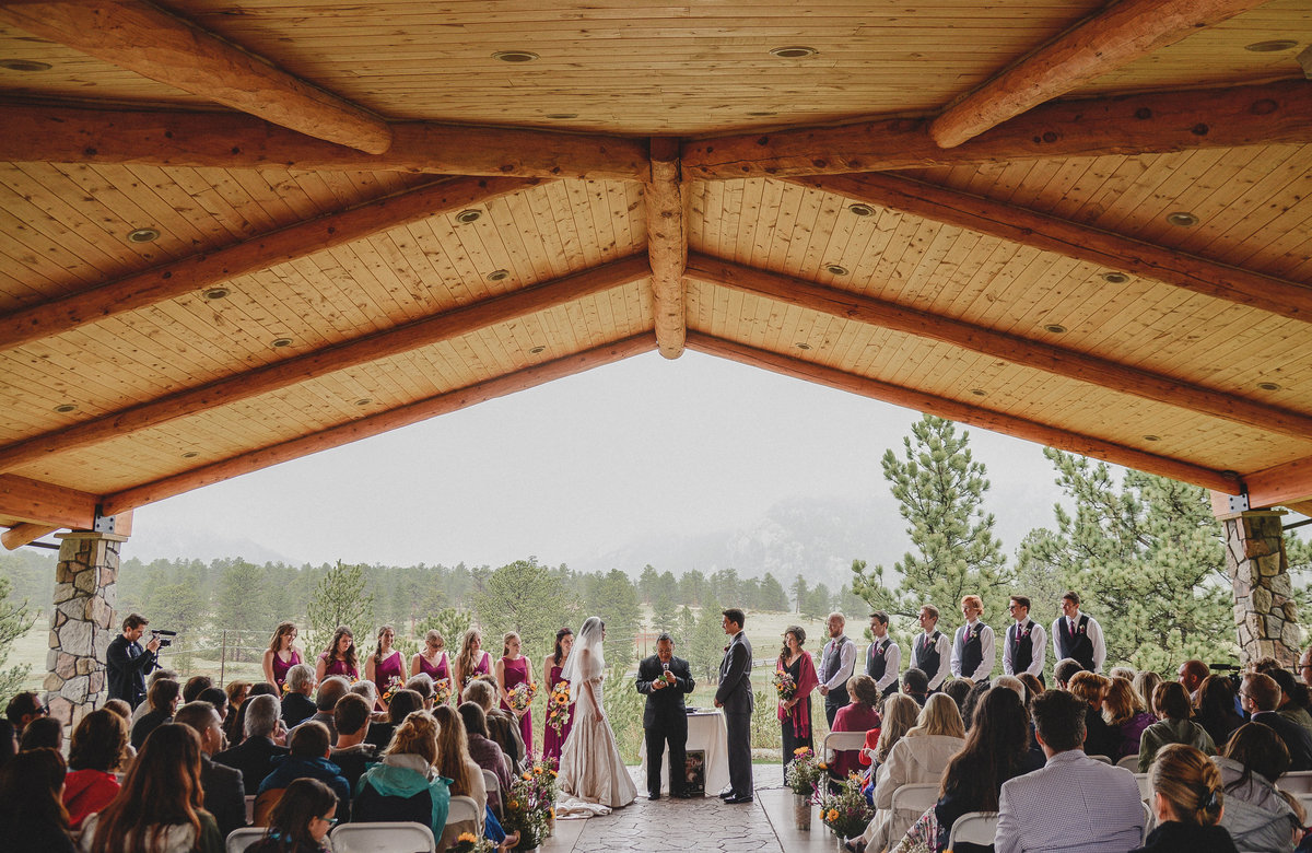 wedding ceremony in estes park